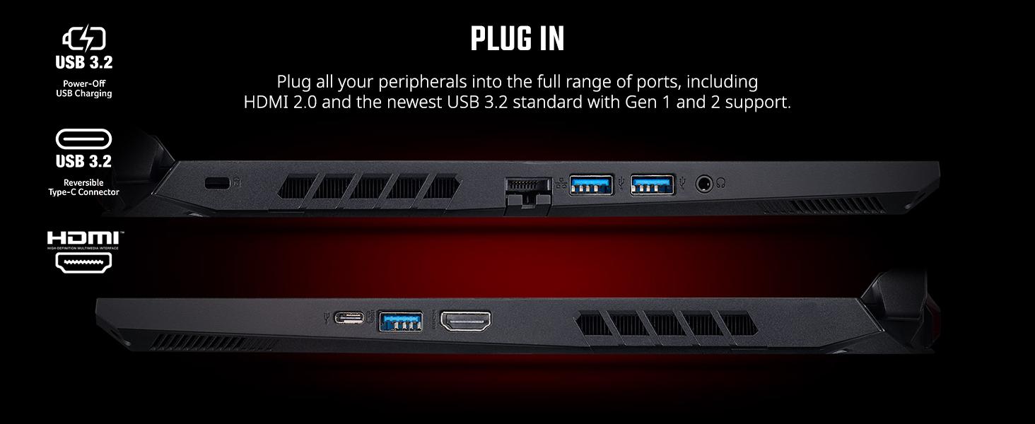 ports connect display monitor dual usb c 3.2 gen 1 2 hdmi 2.0
