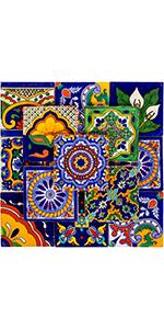 Talavera ceramic tiles assorted