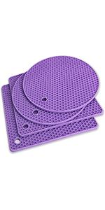 Trivet Mats Silicone Trivet Non-Slip and Heat Resistant Trivet Mats