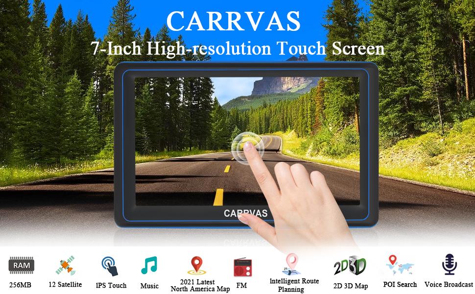 CARRVAS 7-Inch High-resolution Touch Screen