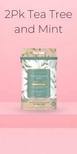 2 PACK Tea Tree and Mint wipes from livegreen