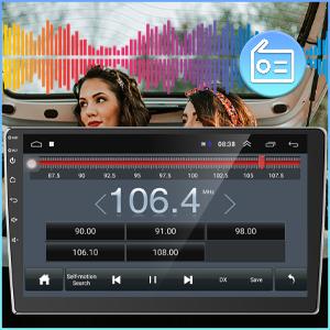 fm car radio receivers 2 din dual din
