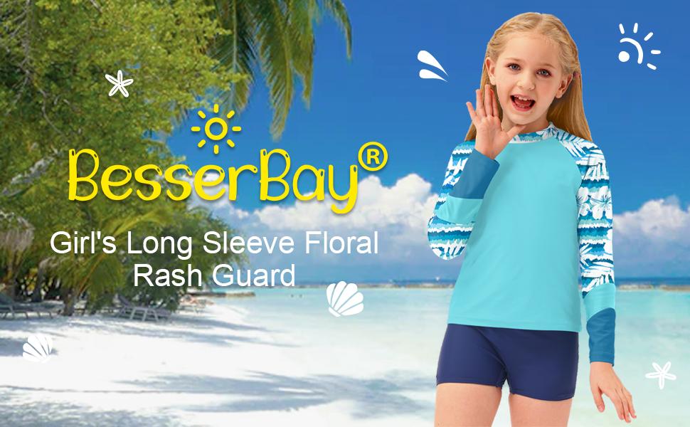 girls long sleeve rashguard