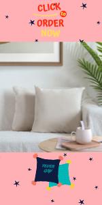 White velvet pillow covers 18x18