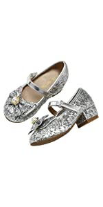 girls low heel dress shoes