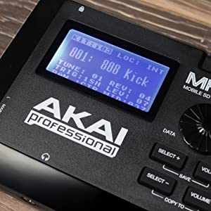 THE DISPLAY OF THE AKAI PRO MPX8