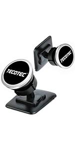 [2 Pack] TECOTEC Upgraded Magnetic Phone Holder for Car Dash amp;amp;amp;amp; Console