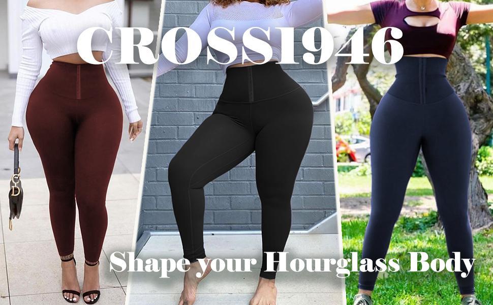 Shape your Hourglass Body with CROSS1946 High Waist shapewear leggings