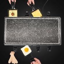 Raclette, raclette à fromage, raclette en acier inoxydable, fer à rôtir, grille, raclette
