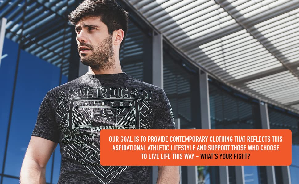 Contemporary Clothing that reflects this aspirational athletic lifestyle - what's your fight?