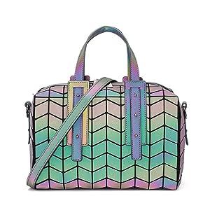 GOWETION Geometric luminous Purse Crossbody Bag Cute Purse