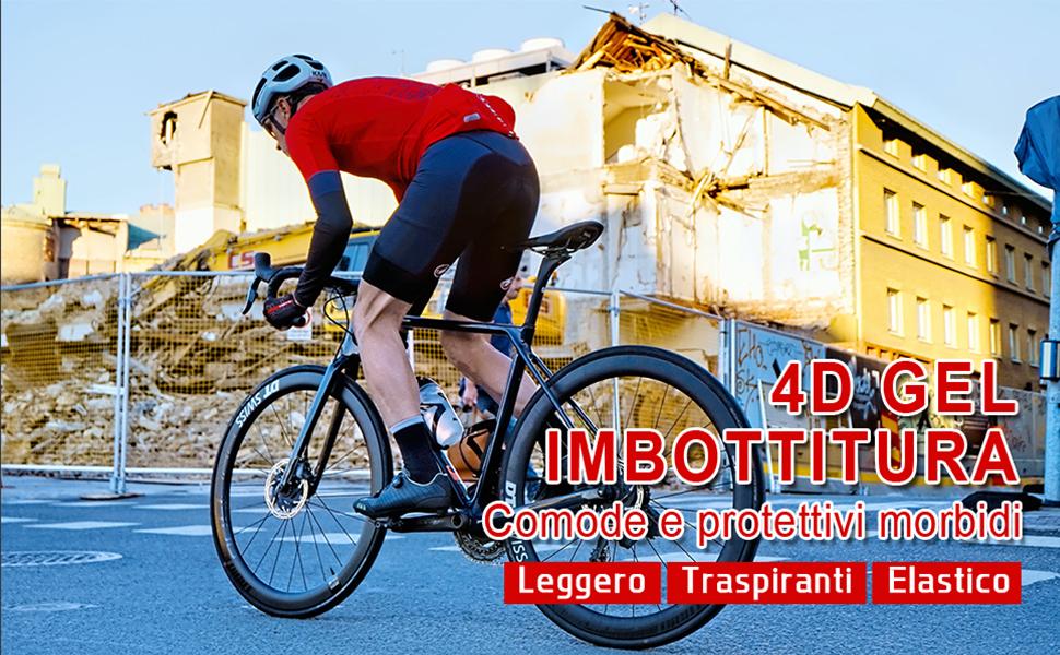 Short de cyclisme rembourré pour homme.