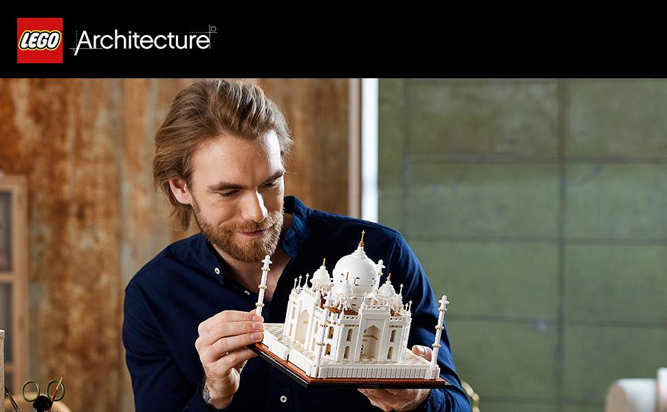 Lego Architecture Taj Mahal - Man with the built model