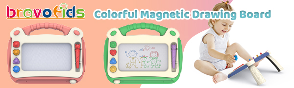 Colorful magnetic drawing board for toddlers