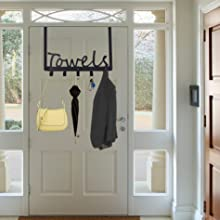 wall mount hookd space saving easy to Install towel holder hooks