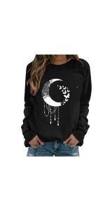 Moon Print Sweatshirts