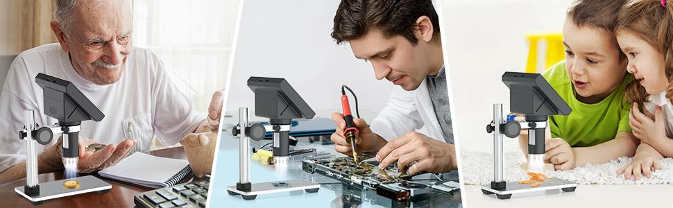 lab handheld digital microscopes