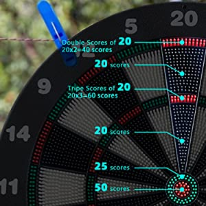 Safety dart board 20 points game