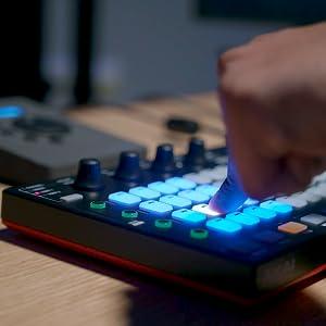 AKAI Professional Fire (Software Bundle) - USB MIDI Controller for FL Studio with RGB Clip