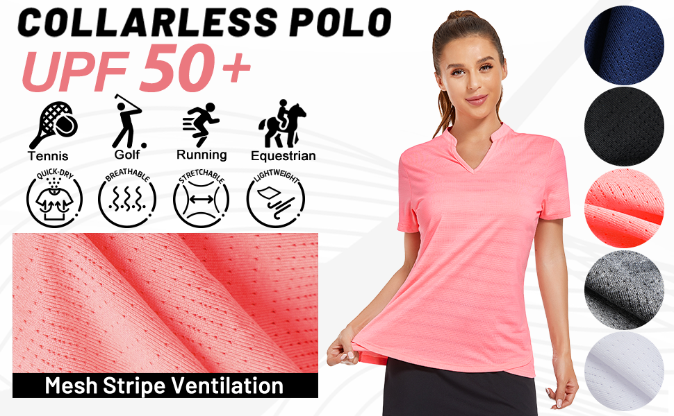 short sleeve golf polo shirt women tennis Equestrian Tops horse riding tshirt summer collarless