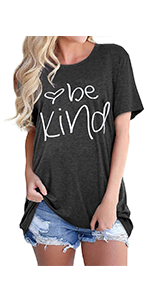 Be kind graphic short sleeve t shirt