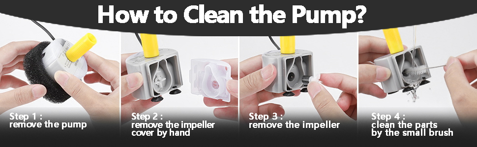 how to clean the pump