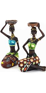 African Candleholder Figurine