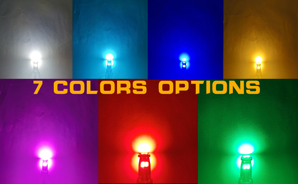 blue ice blue amber yellow purple red green
