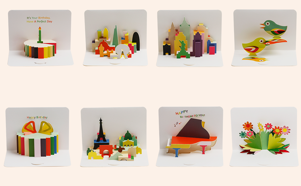 3d pop-up card product detailed introduction