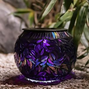 Mosaic Solar Lights Glass Ball Garden Lights