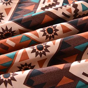 Mefinia Coffee Bohemian Exotic Duvet Cover Set Image 6
