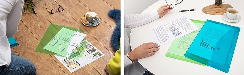 folders fourniture classement organiser couleurs coloris porte protège documents chemises plastique