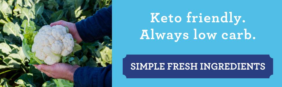 simple fresh ingredients, keto friendly, low carb