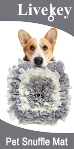 Snuffle Mat Gray and White