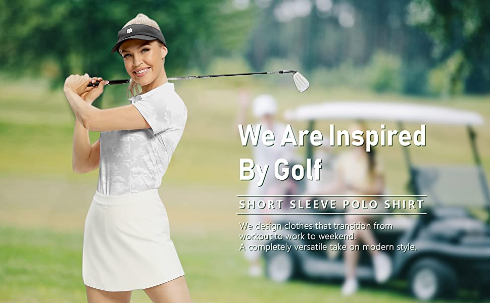 women camo golf polo shirt