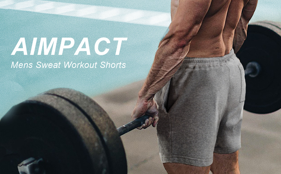 mesn workout sweat 5 inch shorts