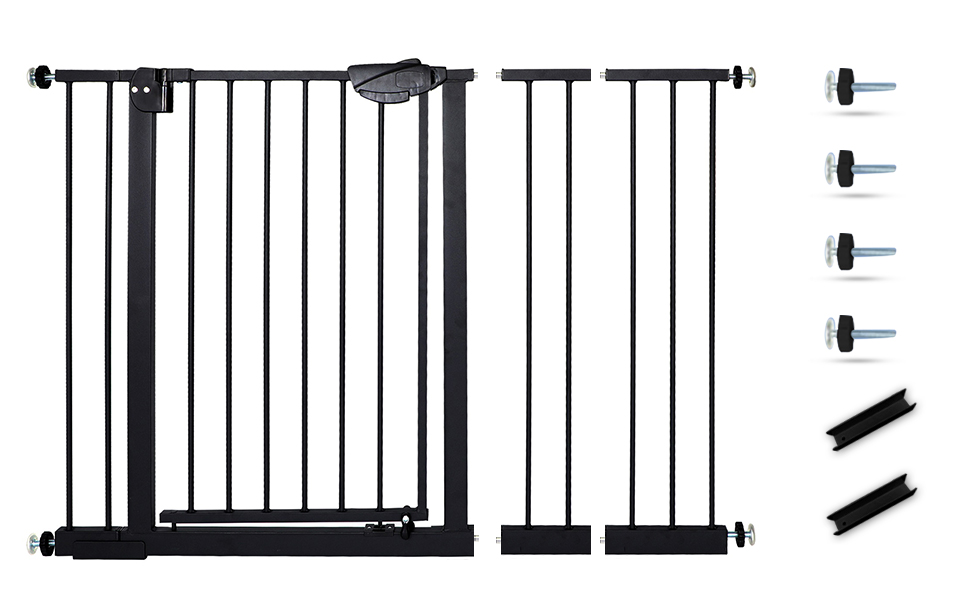 Easy Install, Pressure Mounted, No Drilling, fits for Narrow and Wide Doorways, Safety Gate