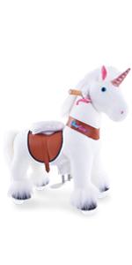 pony cycle riding horse toy ride on unicorn medium size for age 4-9