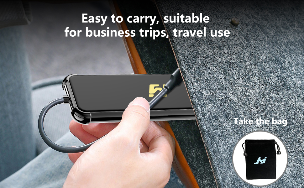 USB C Adapter is equipped with a vlvet bag for easy carrying, Ideal as a MacBook for traveling.