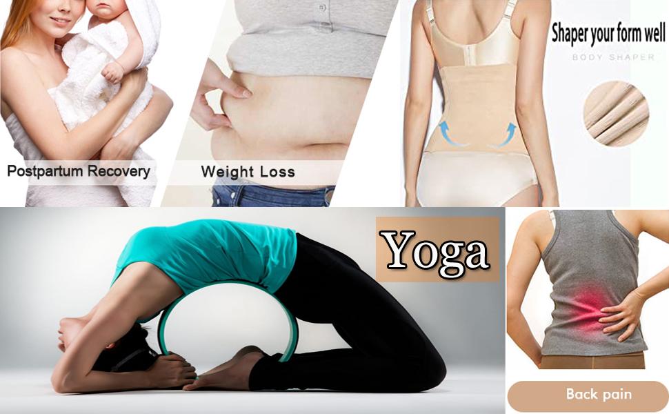 Women's Postpartum Waist Trainer Belt Body Shaper Belly Wrap Compression Band