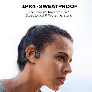Sweat proof and dust proof, IPX4 leveled to resist light rain and sweat