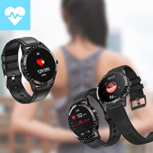 watch for women men has health tracker such as heart rate blood pressure blood oxygen moniter
