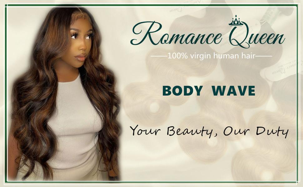 Romance Queen Ombre Bundles With Closure