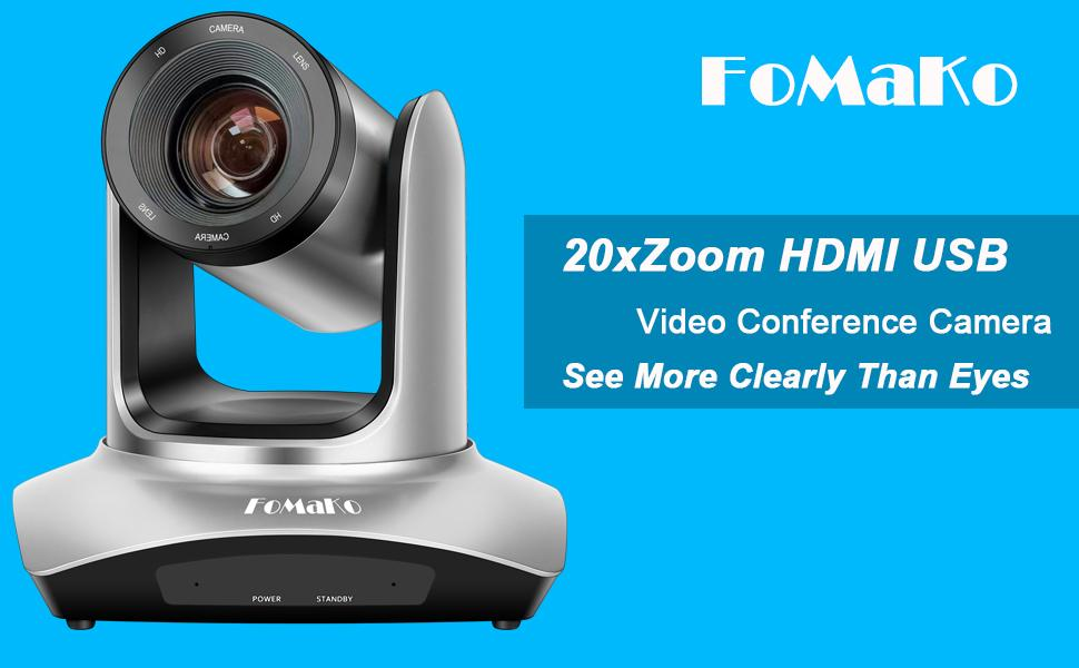 FoMaKo 20xZoom HDMI USB PTZ Camera