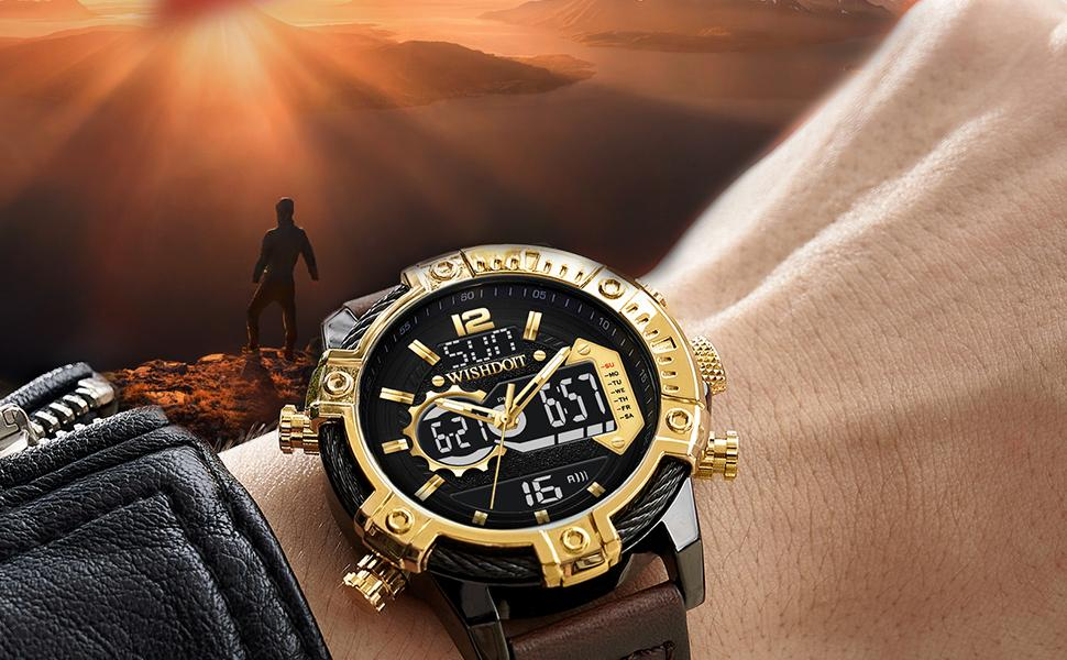 Casual sports fashion multifunctional men's watch quartz movement