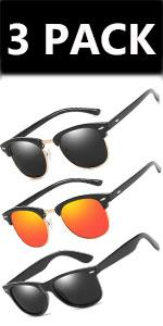 Sunglasses Polarised /3 PACK/red
