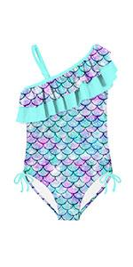 Girls One Shoulder Swimsuits