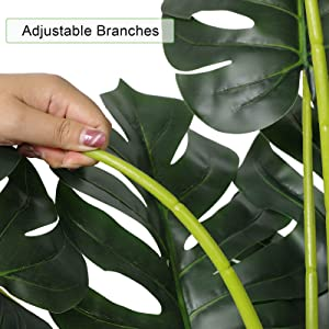 faux swiss cheese plant artificial monstera plant faux for home office modern decor indoor tall