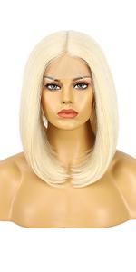 #613 Blonde Bob Wigs