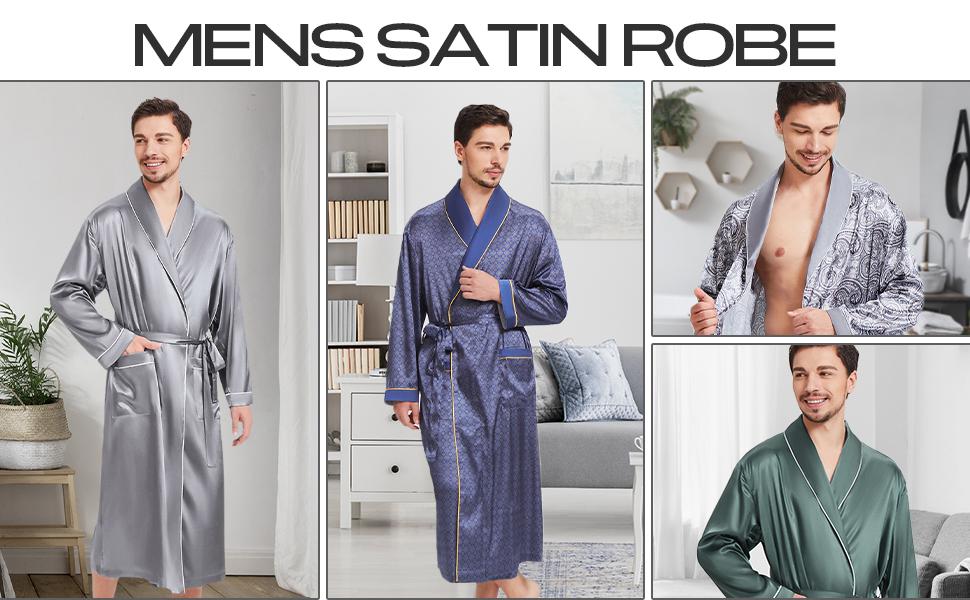 silk men robe